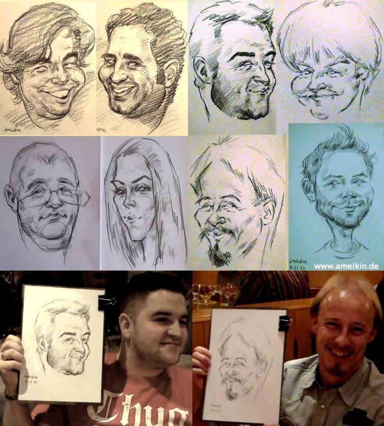 Schnellzeichner, Portraitist, Karikaturist und Artist Amelkin